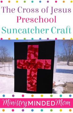 This cross of Jesus preschool craft is not only fun for kids, but includes Bible lesson ideas so you Preschool Bible, Preschool Crafts, Raising Godly Children, Christian Crafts, Bible Lessons For Kids, Religious Education, Jesus On The Cross, Bible Crafts, Christian Parenting