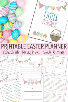 Organize all your Easter activities, menus, projects and more with this printable Easter planner. Includes invitations and thank you cards for your Easter gatherings too! Enjoy your holiday by keeping track of everything with this adorable planner.