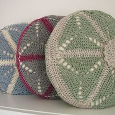 PDF Crochet Pattern - Round Cushion Cover