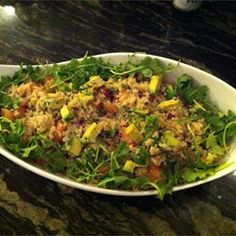 tastycookery | Quinoa Salad with Grapefruit, Avocado, and Arugula