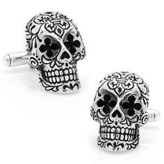 cb5594dd4 King Baby Day of the Dead Skull Cufflinks -- $370 #mens #cufflinks # · King  Baby JewelryFrench Cuff ShirtsDesigner CufflinksSterling Silver ...