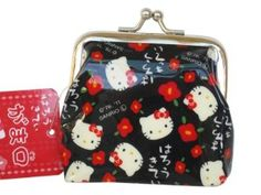 Black Hello Kitty Coin Purse - Hello Kitty Change Purse by Sanrio. $8.50. Measures 3 Inches (8 cm) Wide and 2.5 Inches (6 cm) DeepMade of Vinyl MaterialGreat for Travel and Keeping in a Normal Size Purse