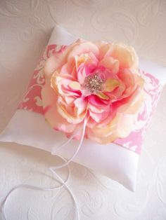 Vintage Rose Garden Ring Wedding Pillow by by creations4brides, $39.00