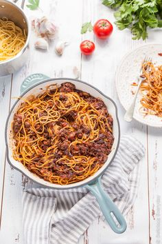 Vegan Bologonese Recipe - mushrooms steal the show in this delicious vegan spin on the classic, bolognese (known to the Italians as Ragu). | Click for the vegan spaghetti bolognese recipe