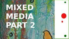 Tutorial: Mixed Media Vogelkäfig - Part 2 Fließtechnik & Spritztechnik: Arbeiten mit Acryl-Tusche FWINK Daler-Rowney, Triton Acryl-Marker, Pitt-Artist Pen (Faber-Castell). #artjournal