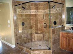 Bathroom Fetching Small Bathroom Decoration Using Corner Round Glass Shower Room Along With Light Green Bathroom Wall Paint And Shower Stall Seats : Good Looking Pictures Of Bathroom Decoration Using Shower Stall Seats. Bathroom Design, Bathroom With Walk Bathroom Shower Doors, Small Bathroom With Shower, Glass Shower Doors, Bathroom Ideas, Lowes Bathroom, Glass Showers, Bathroom Wall, Glass Doors, Glass Bathroom