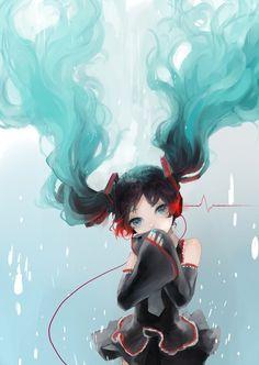 ❤٩(๑•◡-๑)۶❤                                                 anime hatsune miku