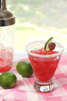 Fresh Cherry Sidecar | 21 Pretty Pink And Red Drinks For Valentine's Day