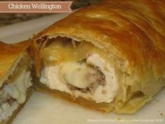 Jamie Oliver's Old Man's Superb Chicken in Puff Pastry – Everyday Cooking Adventures - My CMS Puff Pastry Chicken, Chicken Puffs, Strudel Recipes, Puff Pastry Recipes, Savory Pastry, Choux Pastry, Chicken Wellington, Wellington Food, Jamie Oliver Chicken