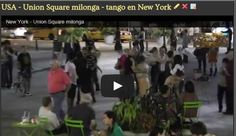 Sabias que en USA, New York, hay una comunidad grande del tango baile. Esta es una muestra. Que opinas sobre el tango en New York?