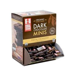 Equal Exchange Dark Chocolate Minis Organic and the right amount for healthy energy boost