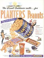 Planters Cocktail Peanuts 1954 Ad Picture
