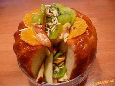 Savarin s ovocím Savarin, Fresh Rolls, Baked Potato, Potatoes, Stuffed Peppers, Baking, Vegetables, Ethnic Recipes, Food