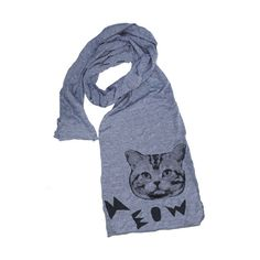 Meow Cat Scarf Gray design inspiration on Fab.