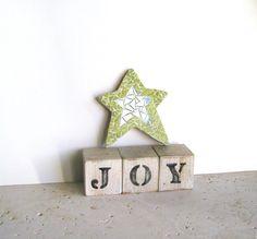 Mosaic Star Display star magnet star by MarysPoshDoggieDiner