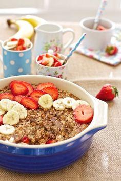 Mother's Day Whole Grain Recipes: Strawberry Banana Breakfast Bake | Marla Meridith