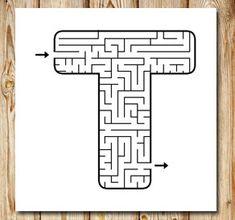 Labyrint: T | Gratis labyrinter att skriva ut själv Printable Mazes, Free Printables, Maze Game, School, Tips, Inspiration, Maze, Lyrics, Malta