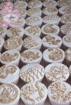 #Mehndi-inspired wedding cupcakes