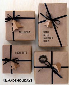 38 Christmas Gift Wrapping Ideas That Make Anyone Look Like a Decorating Profess. - 38 Christmas Gift Wrapping Ideas That Make Anyone Look Like a Decorating Professional 12 - Christmas Gift Wrapping, Diy Christmas Gifts, Holiday Gifts, Christmas Decorations, Christmas Ideas, Christmas Packages, Christmas Snacks, Elegant Christmas, Santa Gifts