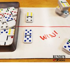 5 Hands-On Activities for Teaching Fractions that your Students will LOVE! Fraction domino war