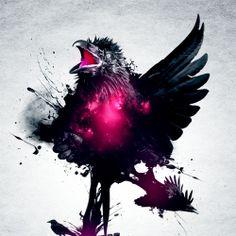 Raven v2 design with photoshop