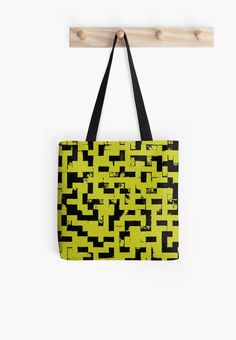 Line Art - The Bricks, tetris style, yellow and black by cool-shirts   Also Available as T-Shirts & Hoodies, Men's Apparels, Women's Apparels, Stickers, iPhone Cases, Samsung Galaxy Cases, Posters, Home Decors, Tote Bags, Pouches, Prints, Cards, Mini Skirts, Scarves, iPad Cases, Laptop Skins, Drawstring Bags, Laptop Sleeves, and Stationeries #design #bags #style #tote #trending