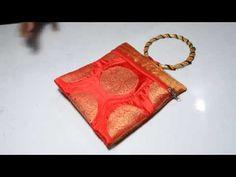 सदाबहार पार्टी छोटा पर्स / ELEGANT PURSE FOR PARTY { HINDI } - YouTube Handmade Fabric Bags, Potli Bags, Fabric Purses, Diy Purse, Wedding Fabric, Sewing Stitches, Bag Patterns To Sew, Sewing Tutorials, Bag Making