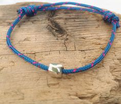 Rope Sailing bracelet by BoathouseStudio on Etsy Nautical Bracelet, Nautical Rope, Sailing Rope, Surfer Bracelets, Adjustable Knot, Climbing Rope, Gifts Delivered, Silver Beads, Buy And Sell
