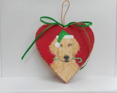 hand painted golden retriever ornaments for christmas - Google Search