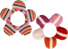 floral rattle crochet