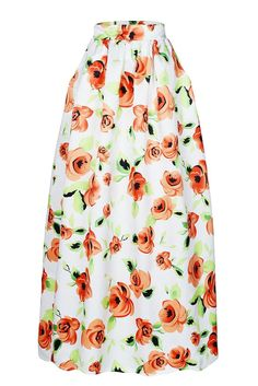 Womens Skirt Ethnic Clothes for Women PlusSize African Print Pullon Pleated Maxi Aline Orange Flower Printed Maxi Skirt Pockets Petticoat M ** You can find out more details at the link of the image. Maxi Skirts For Women, White Maxi Skirts, Printed Maxi Skirts, Long Maxi Skirts, Pleated Skirts, Women's Skirts, Skirt Fashion, Women's Fashion, African Fashion