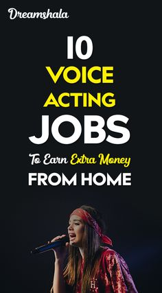 10 voice acting jobs to earn extra money from home. 10 voice acting jobs to earn extra money from home. Earn Extra Money Online, Earn Money From Home, Make Money Blogging, Legit Online Jobs, Online Work, Voice Acting, The Voice, Work From Home Careers, Online Earning