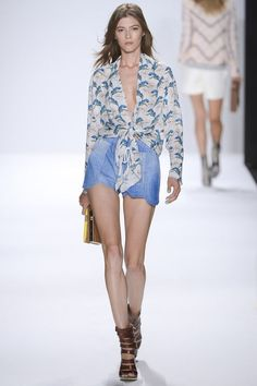 Rebecca Minkoff SS13- Yulia! Had so much fun dressing you, so sweet! PS these shorts are leather!