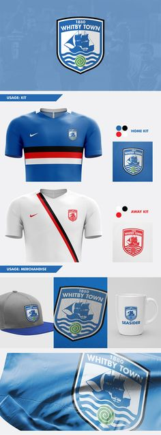 Whitby Town FC Redesign Concept by Nick Budrewicz