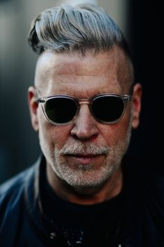 http://chicerman.com billy-george: Nick Wooster Spotted at New York Fashion Week Photo by Adam Katz Sinding #streetstyleformen
