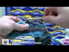 ▶ How To Crochet Wavy Shell Stitch Afghan Part 3 - YouTube