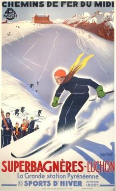 Travel Ads (Vintage Art) Prints, Prints, Paintings & Wall Art for Sale Vintage Ski Posters, Vintage Art Prints, Cool Posters, Fine Art Prints, Sports Posters, Art Posters, Vintage Ads, Unique Vintage, Volleyball Posters