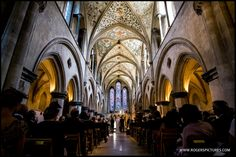 The majestic interior of Boxgrove Priory, a great wedding ceremony venue