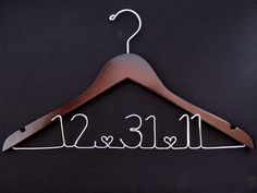 Personalized Bridal Hanger  WALNUT  Custom by noce on Etsy, $25.00