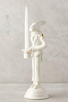 Decorative Accessories, Home Accessories, Beautiful Rabbit, Candle Art, Bunny Art, Idee Diy, Style Retro, Ceramic Art, Candlesticks
