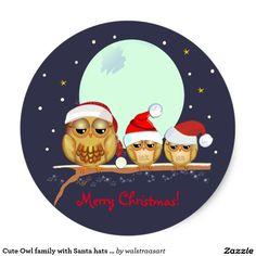 Christmas Owls, Christmas Scenes, Christmas Projects, Merry Christmas, Christmas Ideas, Owl Family, Owl Pictures, Christmas Scrapbook, Owl Art