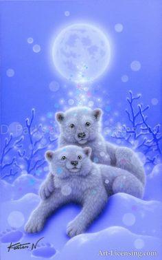 White bear blessing of the moon cute polar bear, cute teddy bears, polar bears Cute Polar Bear, Cute Teddy Bears, Polar Bears, Teddy Bear Cartoon, Cute Animal Videos, Cute Animal Drawings, Bear Art, Animal Wallpaper, Wildlife Art