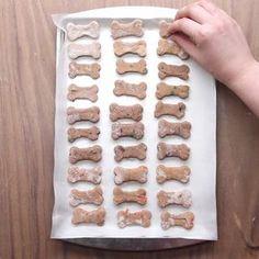 Homemade Dog Food Dog Biscuits 4 Ways - Dog Biscuits 4 Ways Puppy Treats, Diy Dog Treats, Homemade Dog Treats, Healthy Dog Treats, Homemade Dog Biscuits, Diy Dog Gifts, Frozen Dog Treats, Pumpkin Dog Treats, Dog Biscuit Recipes