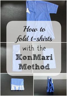 How to Fold T-shirts with the KonMari Method - Overdue Organizing
