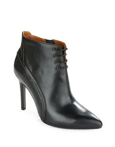 H Halston Irene Ankle Booties Women's Black 9.5