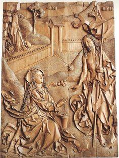 Tilman Riemenschneider (1460 - 1531),  Noli me tangere 1490-92  Limewood,  Parish Church, Münnerstadt.