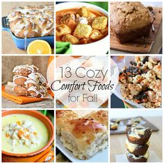 13 Cozy Comfort Foods for Fall that are sure to keep you warm on the cold nights ahead!  #fall #comfortfood #recipes #features