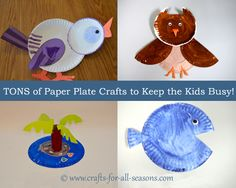Tons of Paper Plate Crafts for the Kids, Pin for Rainy Days!
