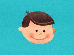 Retro looking boy illustration by Nicholas Hendrickx (ukaaa)