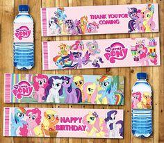 My little Pony Water bottle label My little Pony Water bottle